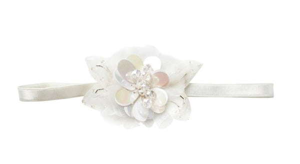 Tutu Du Monde Full Bloom Headband in White available for rent from The Borrowed Boutique.