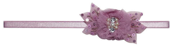 Tutu Du Monde Gardenia Headband in Lavender available for rent from The Borrowed Boutique.