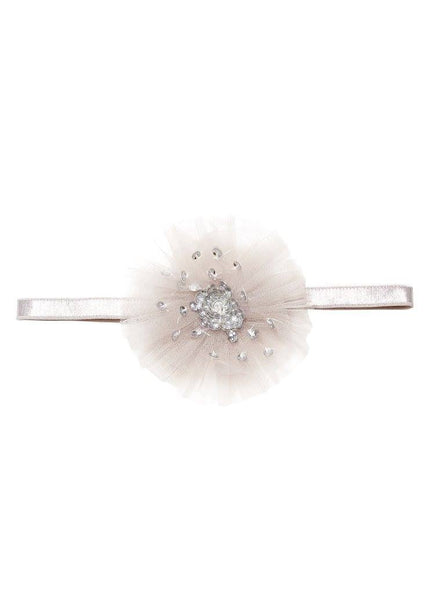 Tutu Du Monde Hidden Treasure Headband in Platinum available for rent from The Borrowed Boutique.