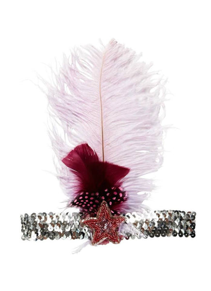 Tutu Du Monde Higher Love Feather Headband in Fraise available for rent from The Borrowed Boutique.