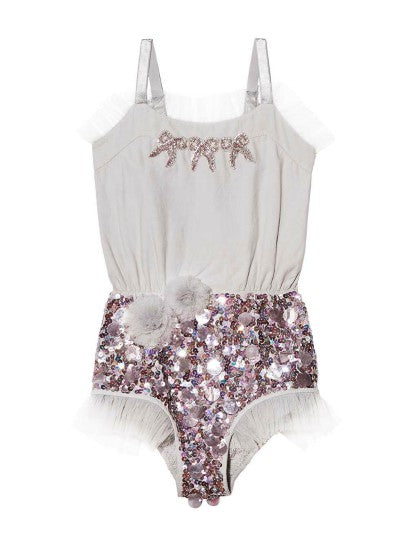 Tutu Du Monde Little Secrets Onesie In Silver available for rent from The Borrowed Boutique.