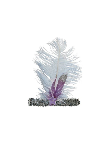 Tutu Du Monde Little Trinkets Feather Headband in Whisper available for rent from The Borrowed Boutique.