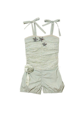 Tutu Du Monde Lost Stars Onesie in Sage available for rent from The Borrowed Boutique.