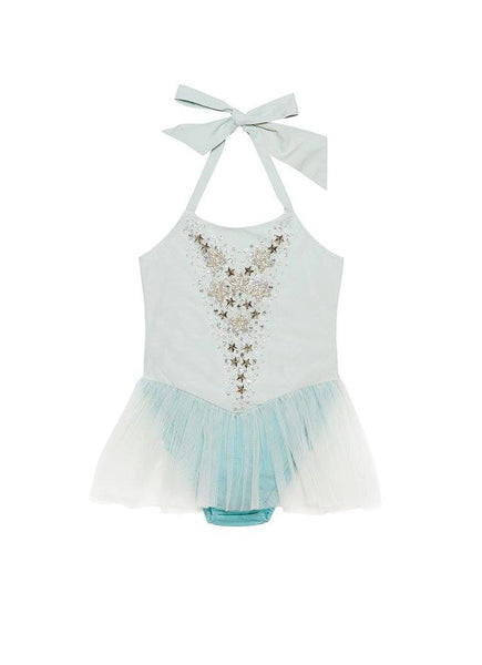 Tutu Du Monde Paper Dolls Onesie in Raindrop available for rent from The Borrowed Boutique.
