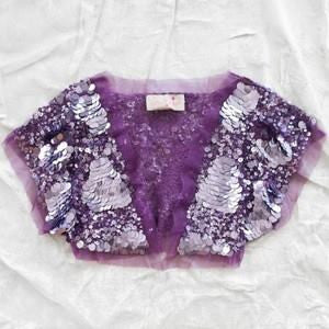 Tutu Du Monde Queen B Shrug in Amethyst available for rent from The Borrowed Boutique.