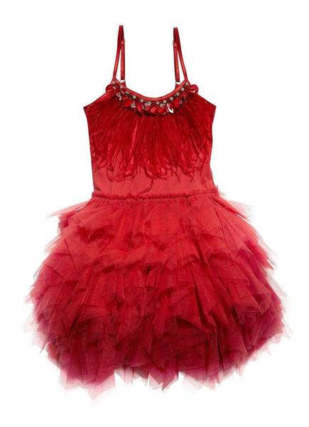 Tutu Du Monde Queen of Hearts Tutu Dress in Rhubarb available for rent from The Borrowed Boutique.