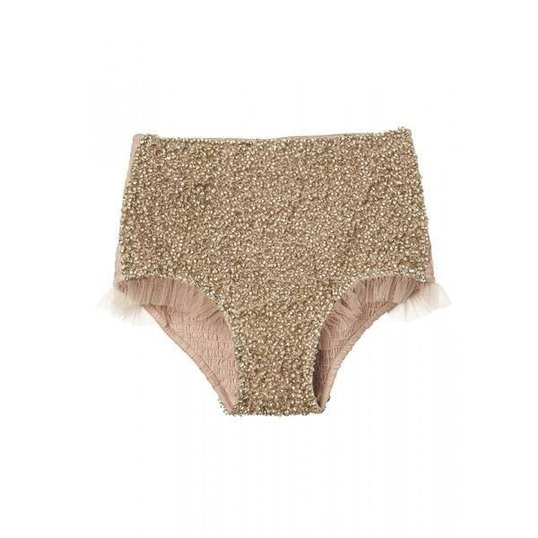 Tutu Du Monde Showstopper Shorts in Gold available for rent from The Borrowed Boutique.
