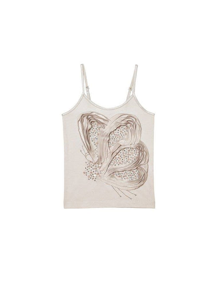 Tutu Du Monde Social Butterfly Organic Cotton Singlet in Platinum available for rent from The Borrowed Boutique.