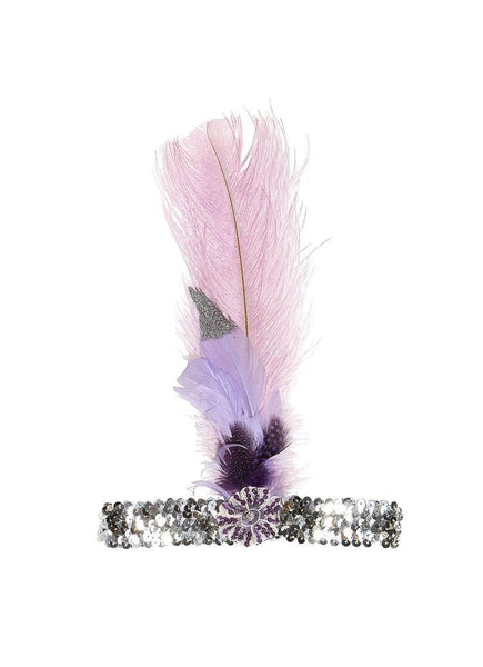 Tutu Du Monde Sparrows Nest Feather Headband in Wisteria available for rent from The Borrowed Boutique.