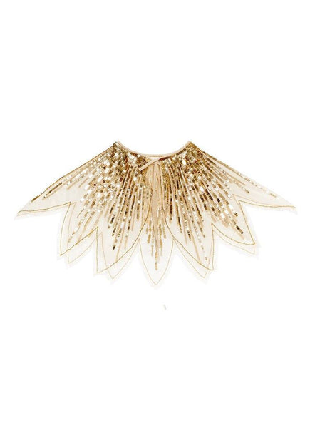 Tutu Du Monde Tinsel Cape in Gold available for rent from The Borrowed Boutique.