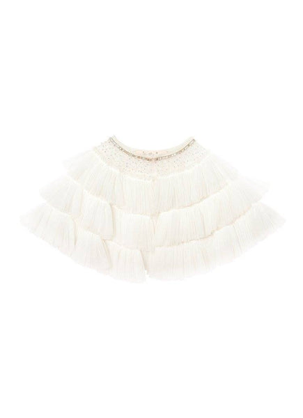 Tutu Du Monde Tea Party Cape in Milk available for rent from The Borrowed Boutique.