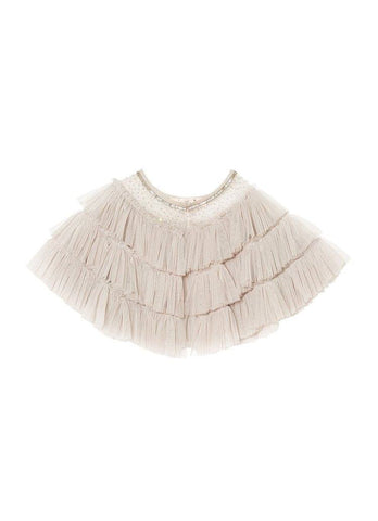 Tutu Du Monde Tea Party Cape in Platinum available for rent from The Borrowed Boutique.