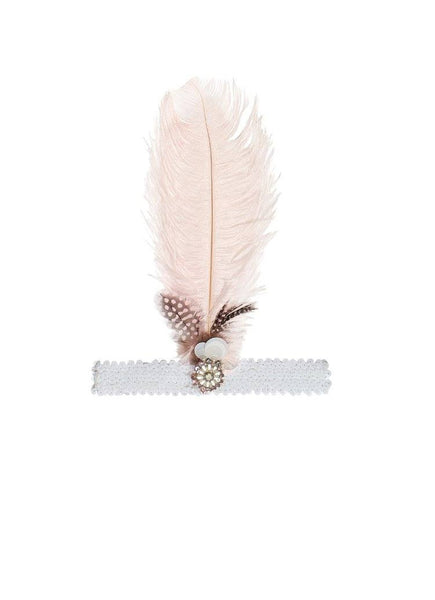 Tutu Du Monde The Stolen Diamond Feather Headband in Powder available for rent from The Borrowed Boutique.