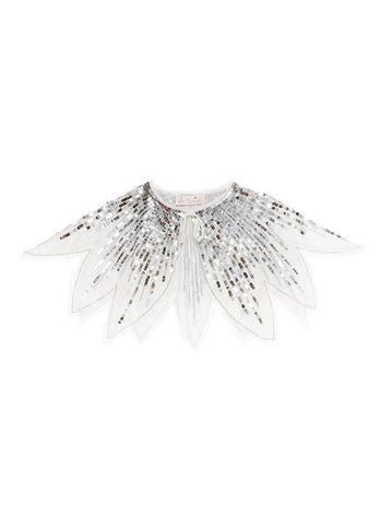 Tutu Du Monde Tinsel Cape in Silver available for rent from The Borrowed Boutique.