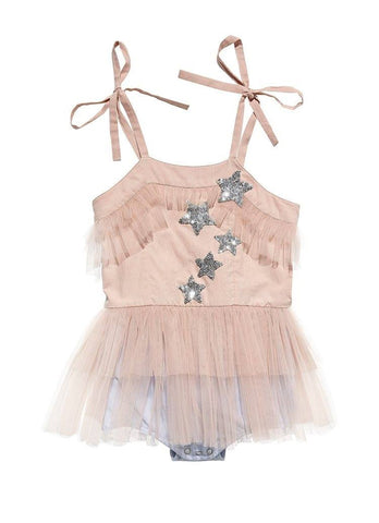 Tutu Du Monde Twinkle Toes Onesie in Blush available for rent from The Borrowed Boutique.