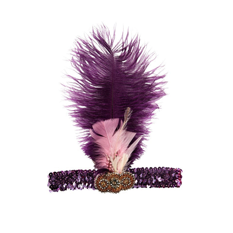 Tutu Du Monde Viva Forever Purple Moon Headband available for rent from The Borrowed Boutique.