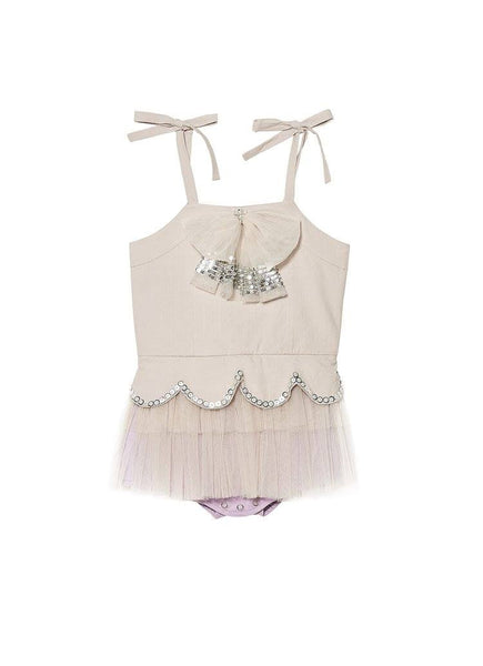 Tutu Du Monde Walk the Plank Onesie in Platinum/Lilac available for rent from The Borrowed Boutique.