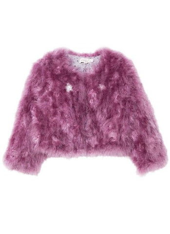 Tutu Du Monde Winter's Fire Marabou Jacket In Royal Orchid