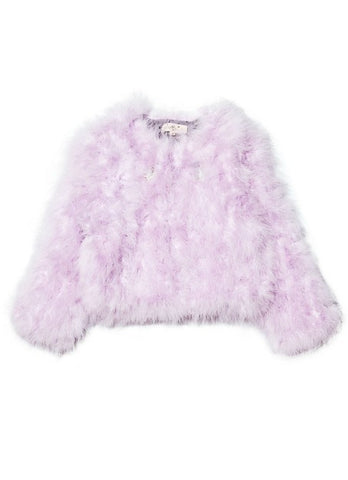 Tutu Du Monde Winter's Fire Marabou Jacket In Violet Veil