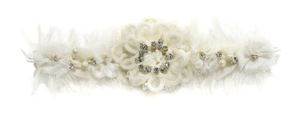 Tutu Du Monde World of Whimsy Headband in Milk available for rent from The Borrowed Boutique.