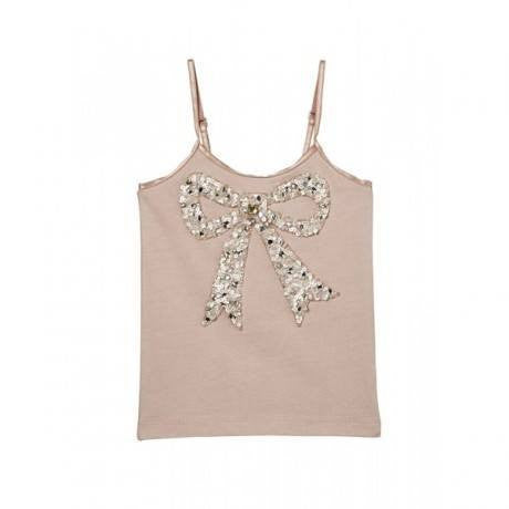 Tutu Du Monde Crystal Bow Top in Nude available for rent from The Borrowed Boutique.