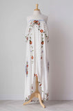 Fillyboo Two Sundays Women's Embroidered Gown in Vanilla Cream