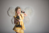 Well Dressed Wolf Naomi Pinafore in Buttercup Yellow
