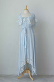 Fillyboo Wonder Years Embroidered Women's Maxi Dress in Baby Blue