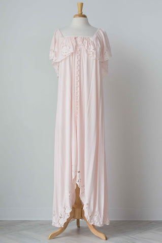 Fillyboo Wonder Years Women's Embroidered Maxi Dress in Blush