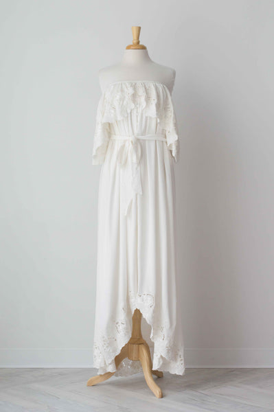 a793f04b09 Fillyboo Wonder Years Embroidered Women s Maxi Dress in Ivory – The  Borrowed Boutique