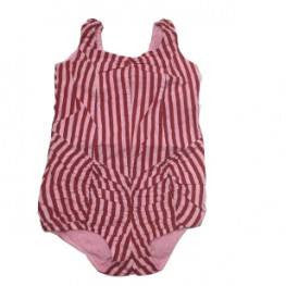 Wovenplay Lola Pink and Red Stripe Sunsuit