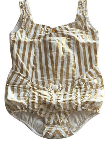 Wovenplay Lola Metallic Gold Sunsuit