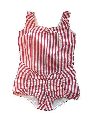 Wovenplay Lola Marseilles Sunsuit in Red and White