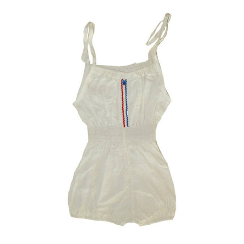 Wovenplay Sailing Jada Romper in White, Blue, and Red