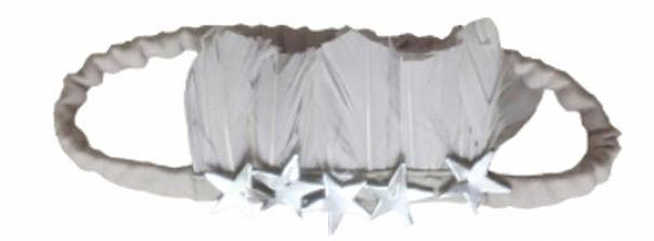 Wovenplay Silver Star Feather Headband