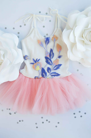 Wrare Doll Spring Fever Playsuit Tutu in Rose
