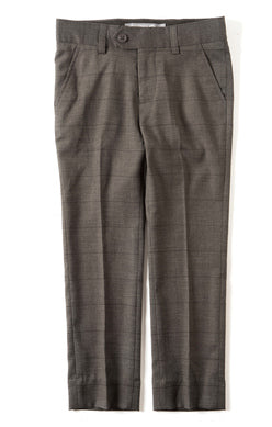 Appaman boys Suit Pant In Charcoal Wales Check rented from The Borrowed Boutique.