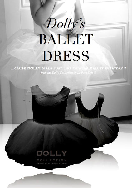 DOLLY by Le Petit Tom Ballet Dress In Black for rent from The Borrowed Boutique.