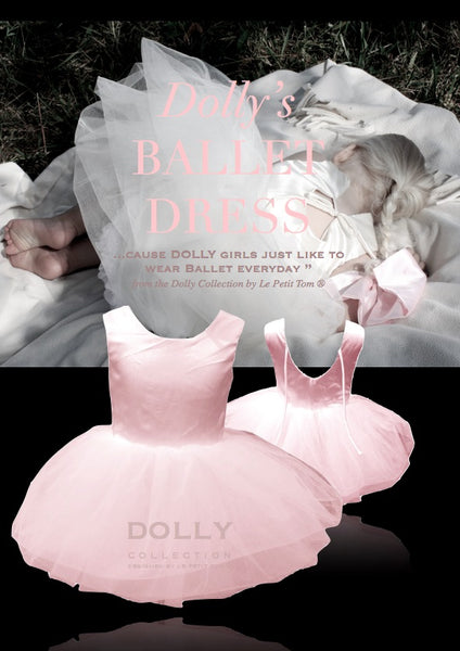 Dolly by Le Petit Tom Ballet Dress In Light Pink for rent from The Borrowed Boutique.