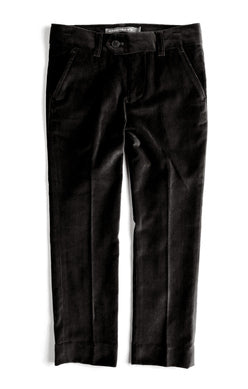 Appaman Boys Mod Suit Pant In Black Velvet available for rent from The Borrowed Boutique.