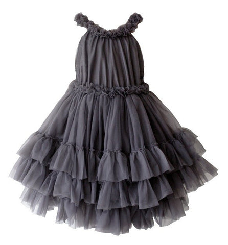 Dolly by Le Petit Tom Ruffled Chiffon Dance Dress in Black from The Borrowed Boutique
