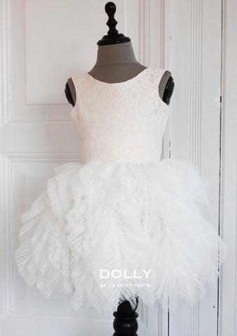 Dolly by Le Petit Tom Fanciful Dress In Off-White available for rent from The Borrowed Boutique.