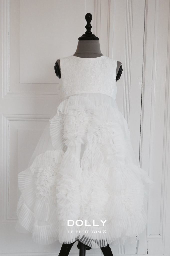 Rent Dolly by Le Petit Tom Frisky Frolic Long Dress In Off-White ...