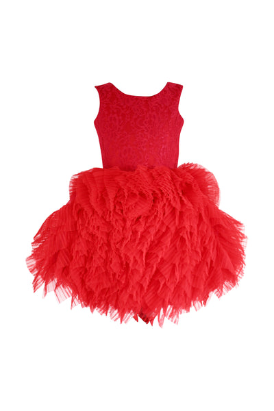DOLLY by Le Petit Tom Fanciful Dress in Red