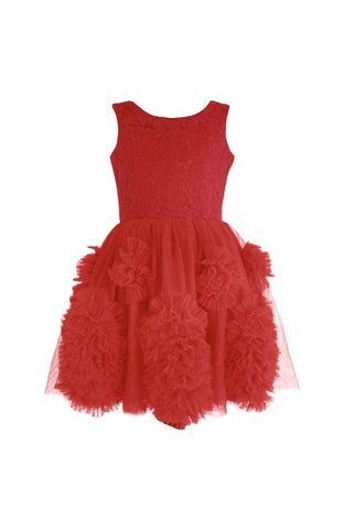 DOLLY by Le Petit Tom Rebellious Dress In Red for rent from The Borrowed Boutique.
