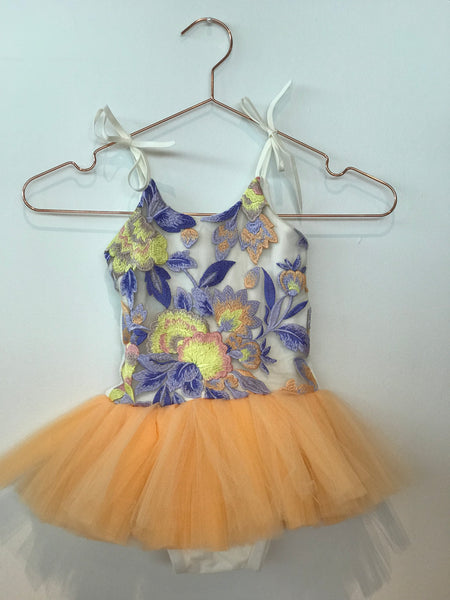 Wrare Doll Spring Fever Playsuit Tutu in Melon