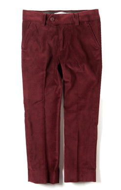 Appaman Boys Mod Suit Pant In Tibetan Red Velvet