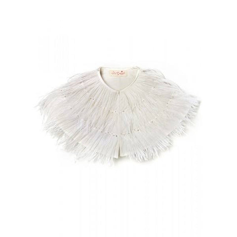 Tutu Du Monde On a Whim Cape in Milk available for rent from The Borrowed Boutique.