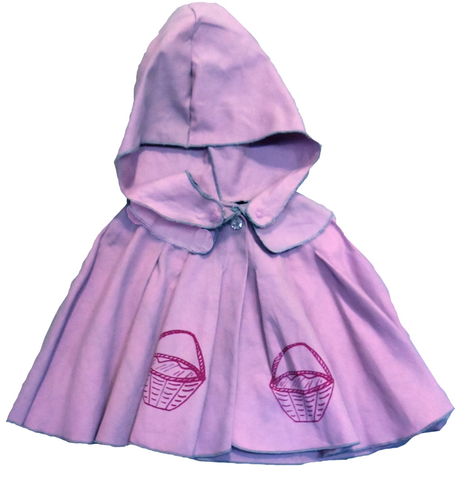 Wovenplay Ridinghood Cape in Purple