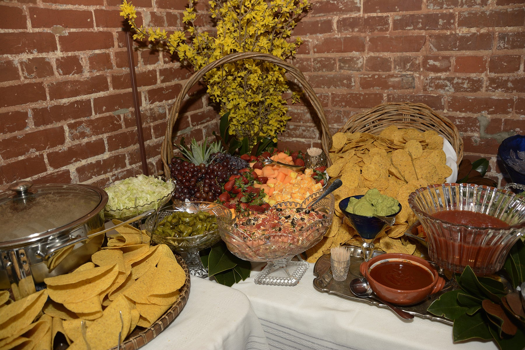 ShopMucho Owner Angelique Sloan 3 year Mexican theme wedding anniversary woodruff fontaine house